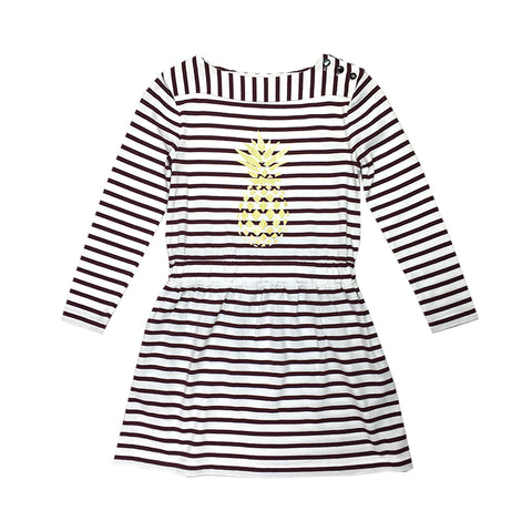 Long Sleeve Striped Boat Dress