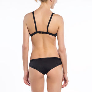 Solid Black Collection Double Triangle Bikini Top