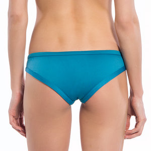 Solid Teal Collection Straight Lift Bikini Bottoms