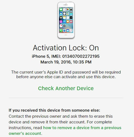 Apple Activation Lock tutorial by iPhoneIMEIUnlock.com