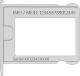 how to get your iPhone IMEI from sim tray