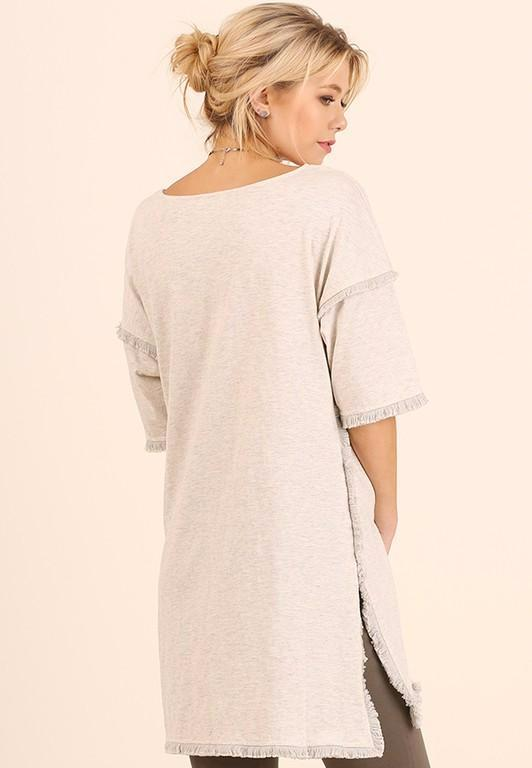Darla Frayed Tunic