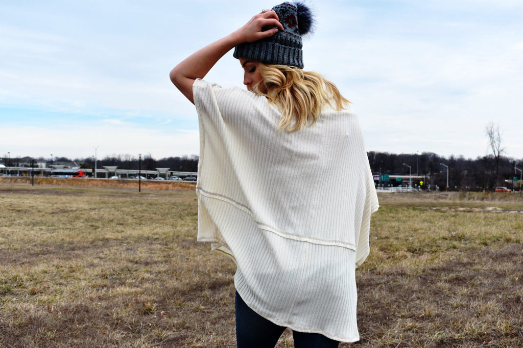 On My Mind Poncho Sweater