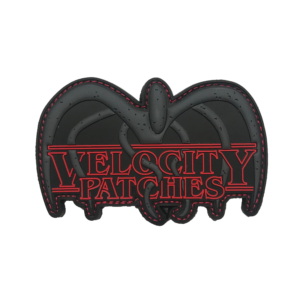 Velocity Patches Stranger Things Logo