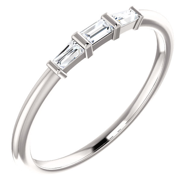 Three-Stone Stackable Ring