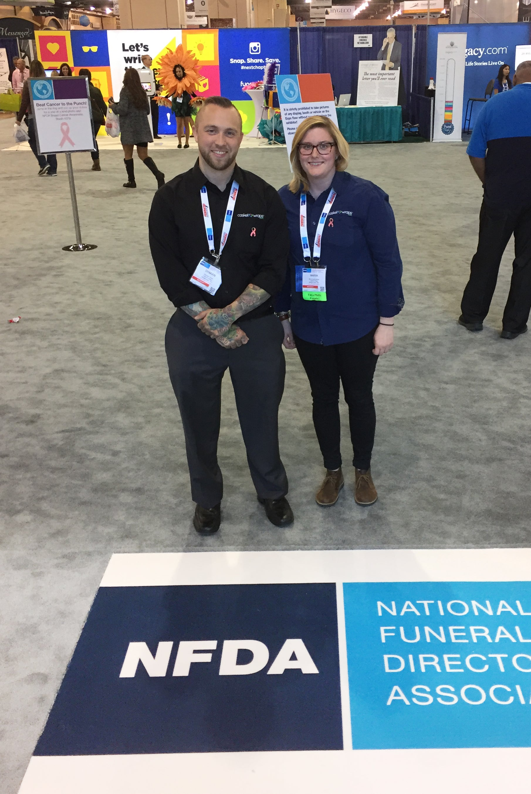 Our very own Damian and Maria at the 2016 NFDA Conference