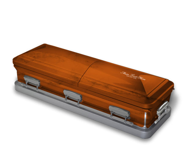 Burnt Orange Casket Wrap