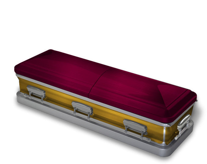 Wine and Gold Casket Wrap