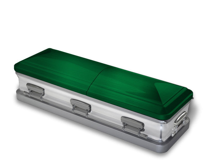 Green and White Casket Wrap