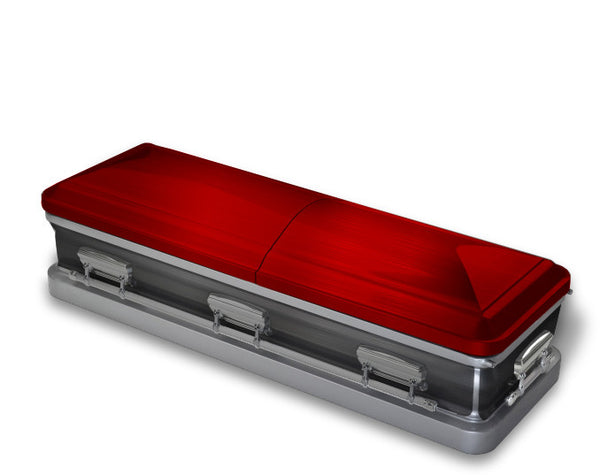 Red and Grey Casket Wrap
