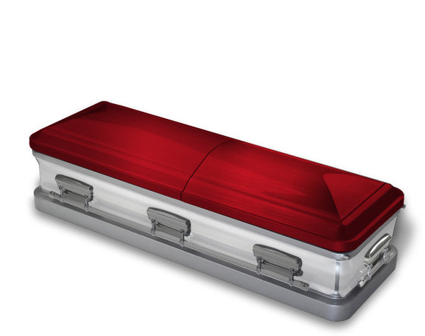 Red and White Casket Wrap