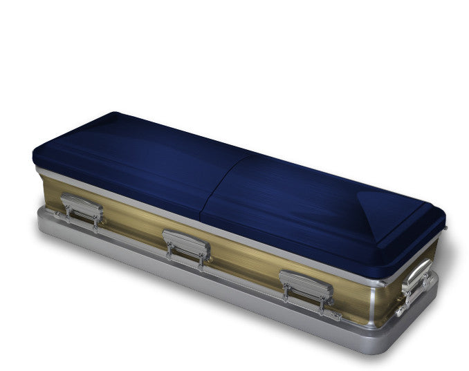 Navy Blue and Gold Casket Wrap