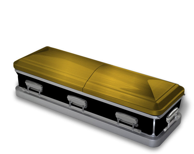 Yellow and Black Casket Wrap