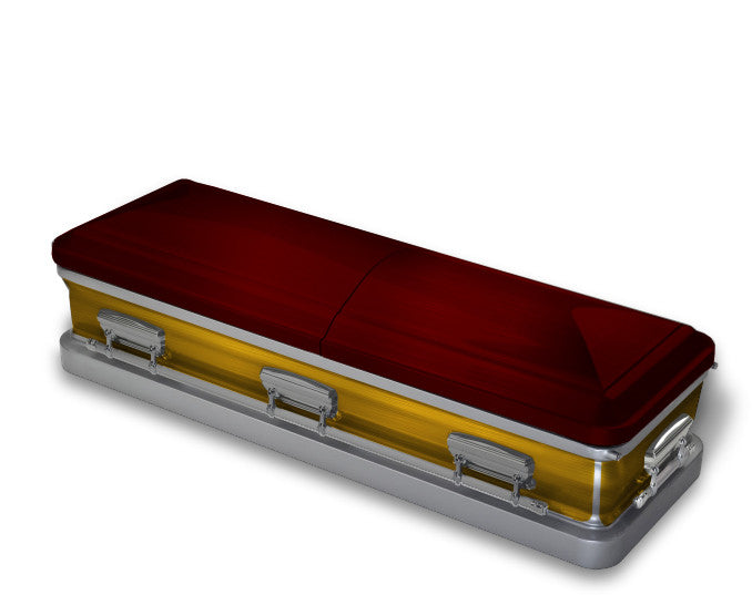 Maroon and Gold Casket Wrap