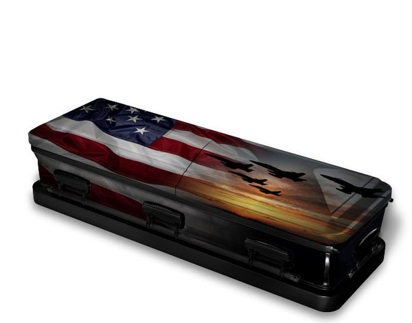 Air Force Vet Military Casket Wrap
