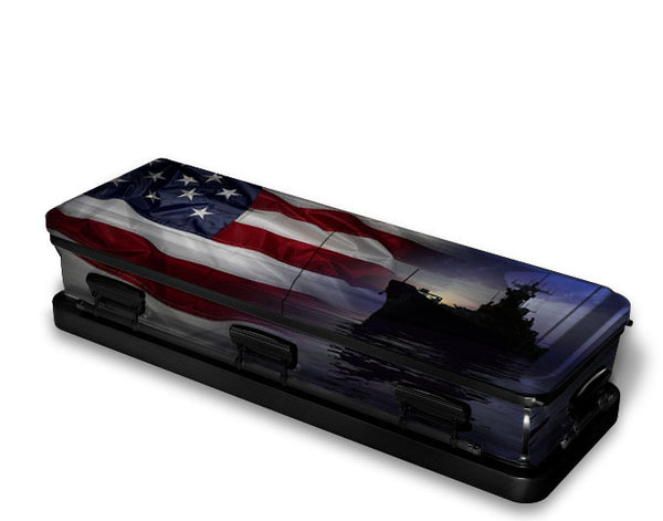 US Navy Military Casket Wrap