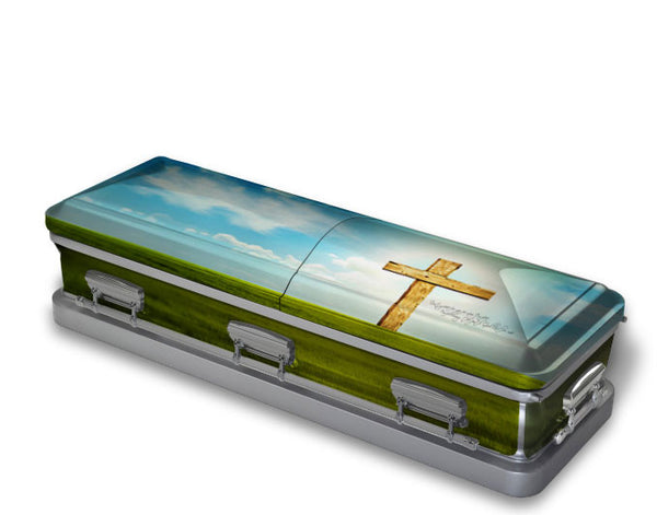Heaven is Real Religious Casket Wrap