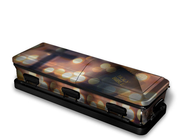 The Good Book Religious Casket Wrap