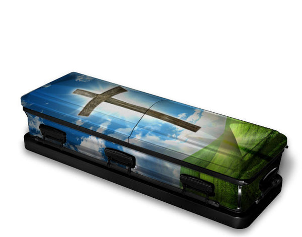 Cross of Salvation Religious Casket Wrap