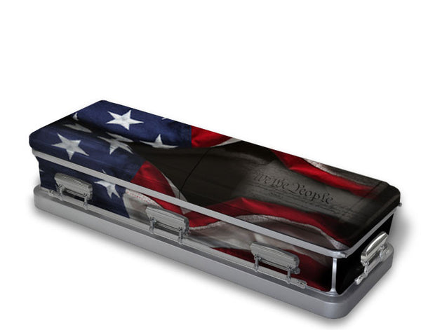 Patriotic Constitution Casket Wrap