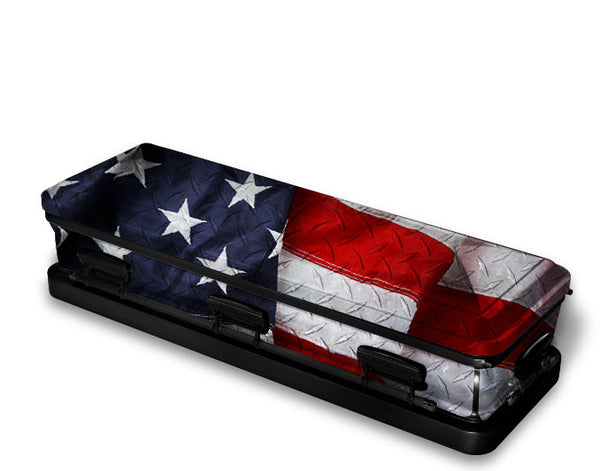 Stars and Stripes Patriotic Casket Wrap
