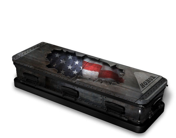 Star Spangled Banner Patriotic Casket Wrap
