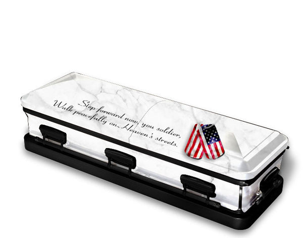 Soldier in Heaven Religious Casket Wrap