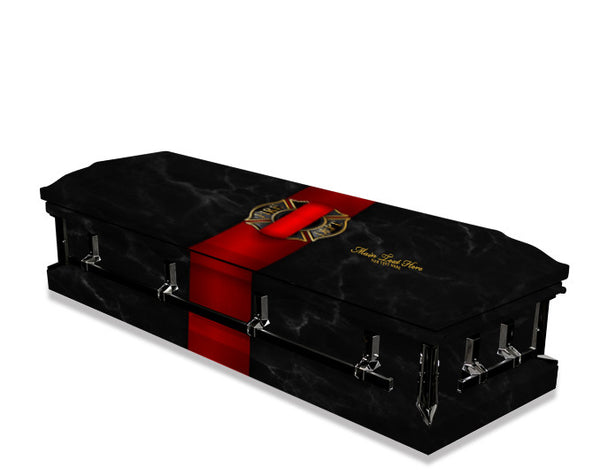 Fallen Firefighter Black Casket Wrap