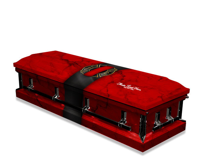 Fallen Firefighter Red Casket Wrap