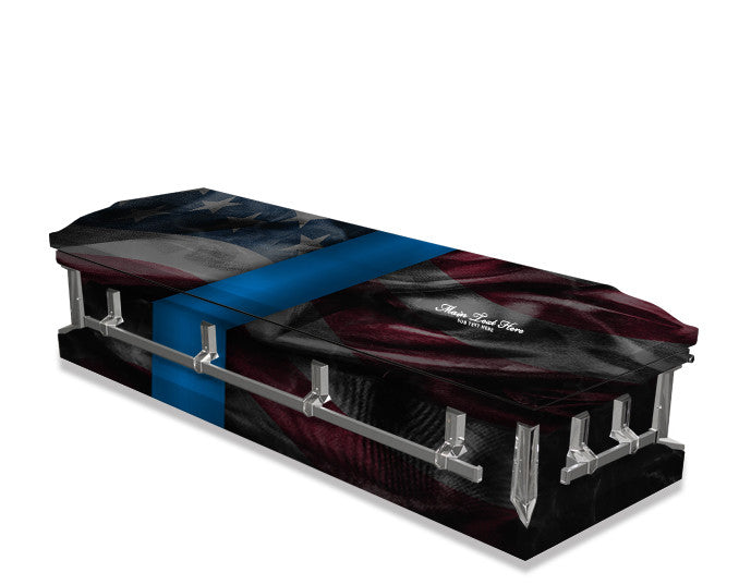 Fallen Officer American Flag Casket Wrap