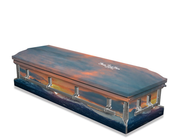 Mountain Sunset Casket Wrap