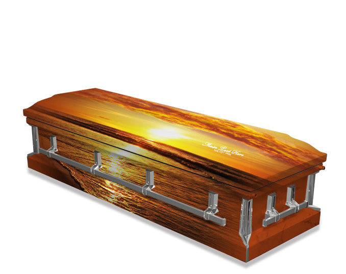 Ocean Sunset Casket Wrap