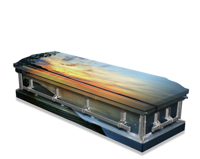 Lake Sunset Casket Wrap