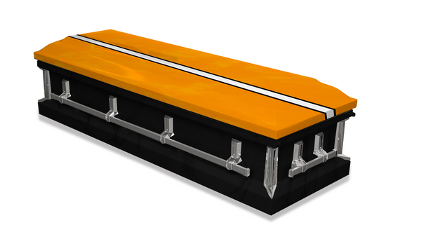 Black and Orange Casket Wrap