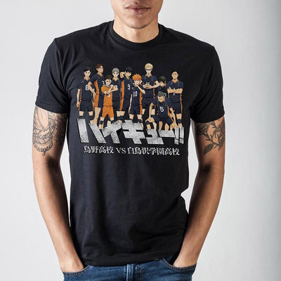 Haikyuu!! Characters Black T-Shirt - Online Aesthetic -  Tumblr Kawaii Aesthetic Shop Fashion