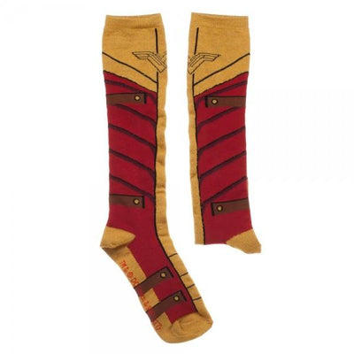 Wonder Woman Knee High Socks With Gold Lurex Yarn - Online Aesthetic -  Tumblr Kawaii Aesthetic Shop Fashion