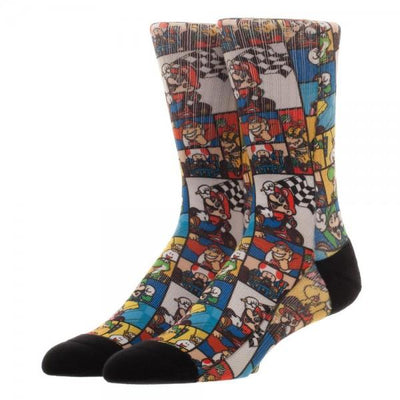 SNES Mario Kart Collage Sublimated Socks - Online Aesthetic -  Tumblr Kawaii Aesthetic Shop Fashion
