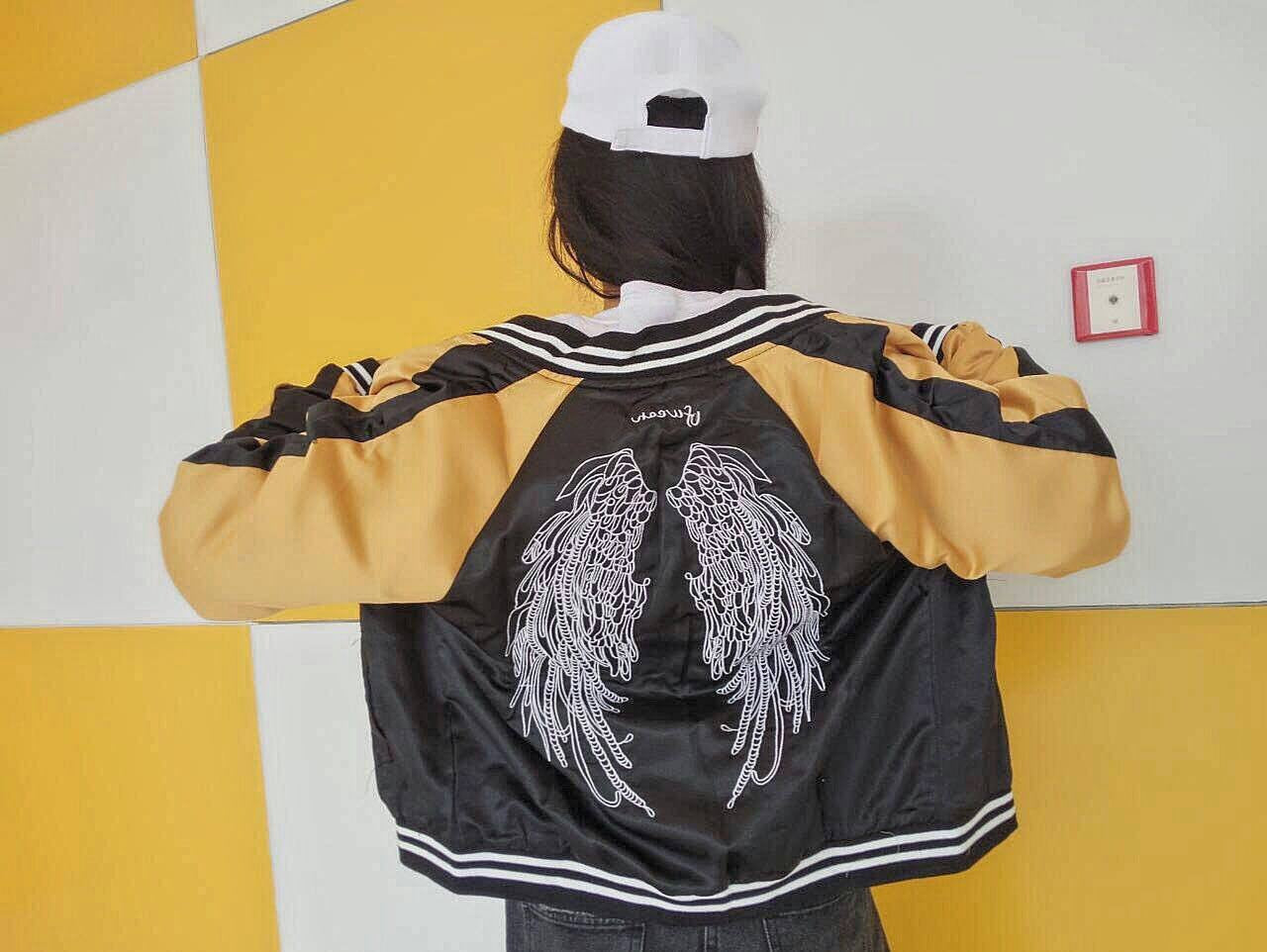 Casual Wings Embroidered Jacket -  - Online Aesthetic Shop - 2