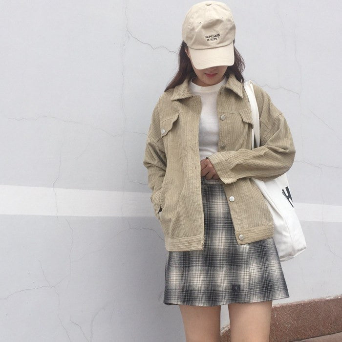 Pastel Corduroy Jacket - Online Aesthetic -  Tumblr Kawaii Aesthetic Shop Fashion