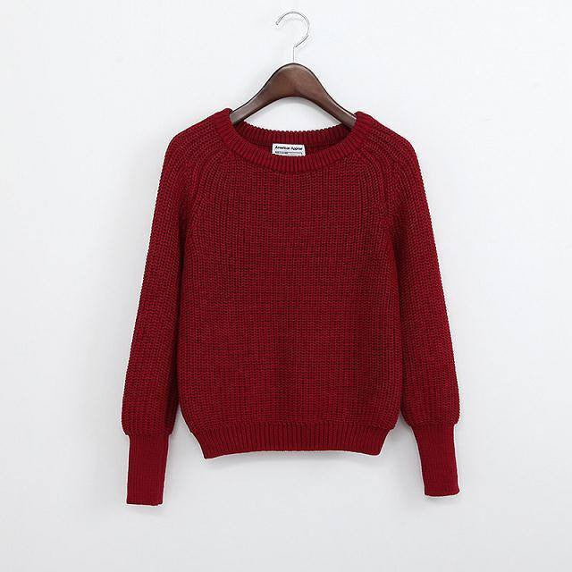 Simple One Tone Wool Pullovers (Multiple Colours) -  - Online Aesthetic Shop - 12