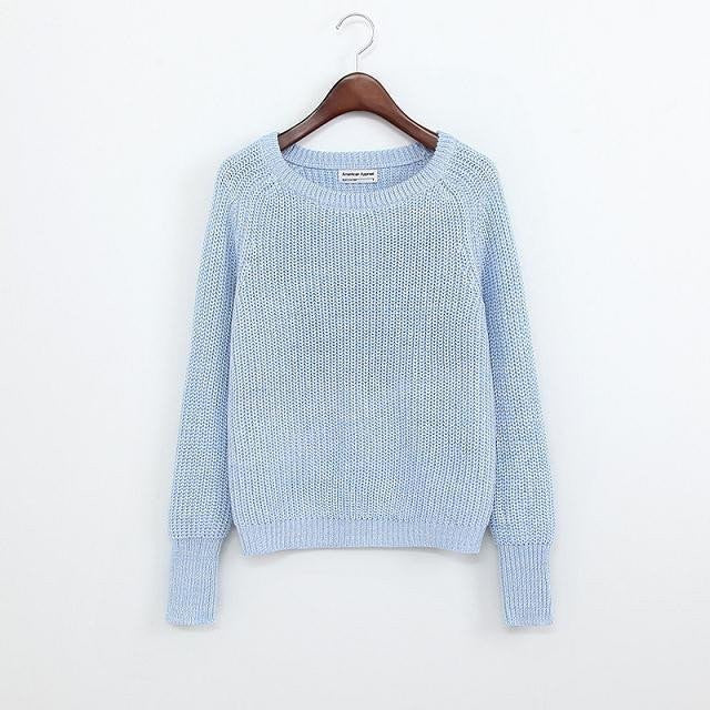 Simple One Tone Wool Pullovers (Multiple Colours) -  - Online Aesthetic Shop - 8
