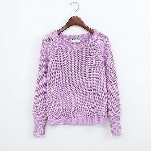Simple One Tone Wool Pullovers (Multiple Colours) -  - Online Aesthetic Shop - 7