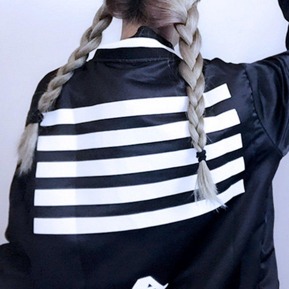 Black and White Stripped Jacket -  - Online Aesthetic Shop - 4