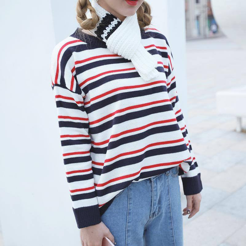 Multi-Coloured Stripped Pullover -  - Online Aesthetic Shop - 5
