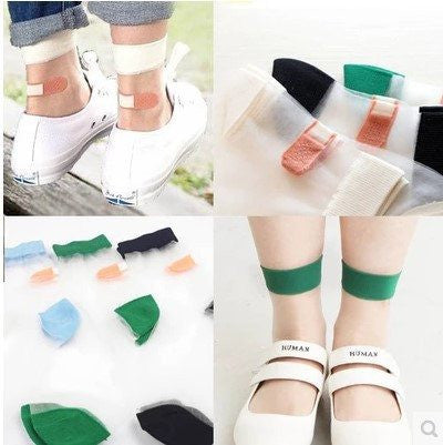 Japanese Band-Aid Ankle Socks -  - Online Aesthetic Shop - 2
