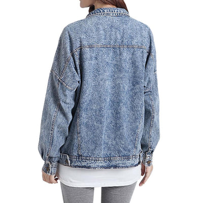 Stone Washed Denim Jacket - Online Aesthetic -  Tumblr Kawaii Aesthetic Shop Fashion