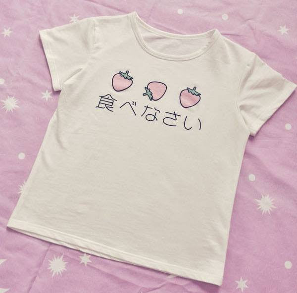 Japanese Kawaii T-Shirts -  - Online Aesthetic Shop - 2