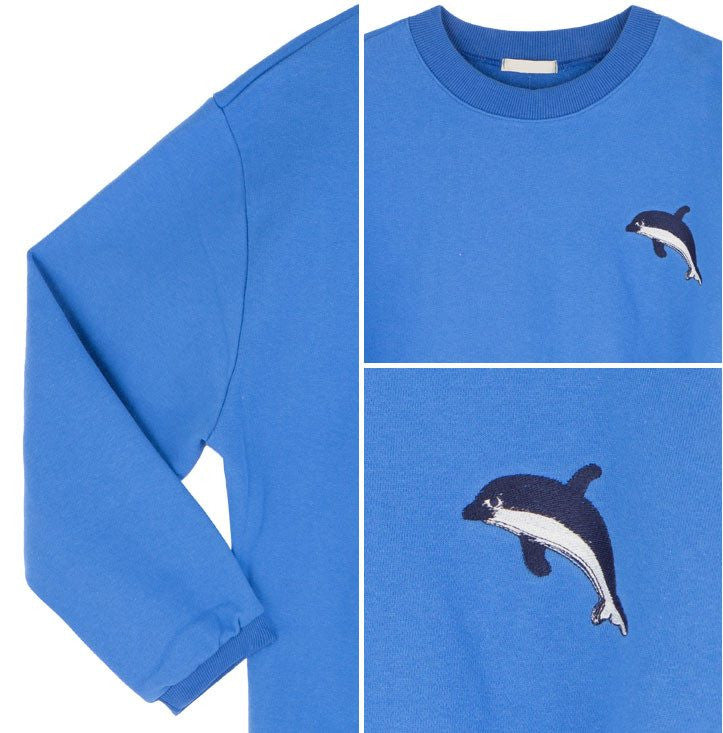 Cute Dolphin Sweatshirt -  - Online Aesthetic Shop - 5