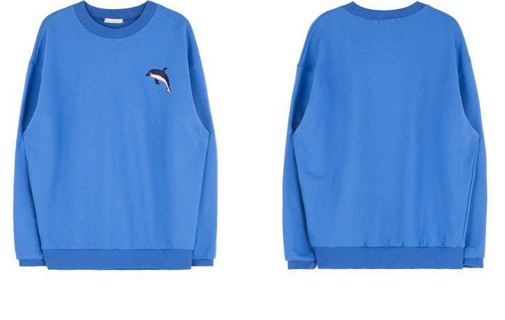 Cute Dolphin Sweatshirt -  - Online Aesthetic Shop - 10