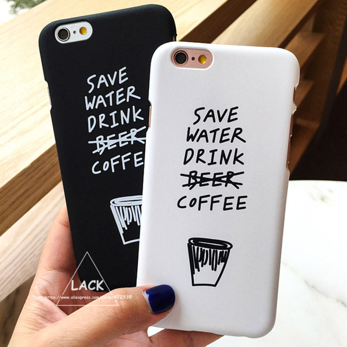 Save Water Drink Coffee iPhone Case - Online Aesthetic -  Tumblr Kawaii Aesthetic Shop Fashion